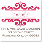 Name Doodles - Square Address Labels/Stickers (Richmond Pink)